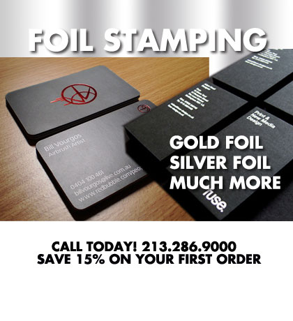 Los angeles printing services foil stamped business cards foil stamped business cards reheart Gallery